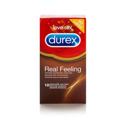 DUREX - REAL FEELING CONDOMS 10 PCS